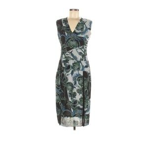 Just Cavalli Printed Sleeveless Sheath Dress